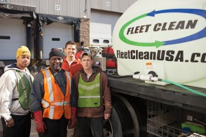 Fleet Clean's team of professional mobile truck wash